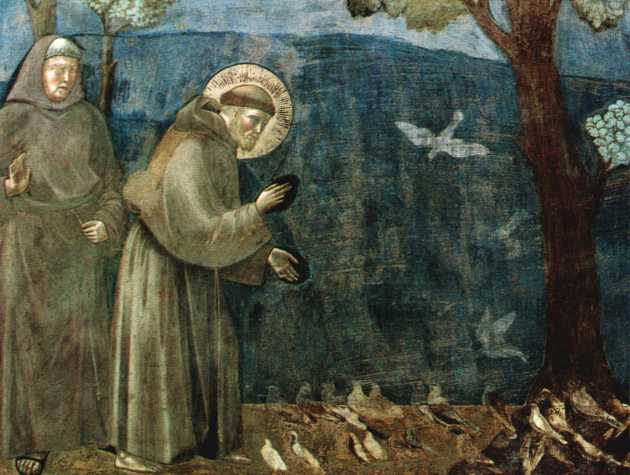Assisi Francis Fresco sermon to the birds